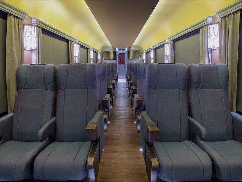 Vagón clase ejecutiva el Chepe Express