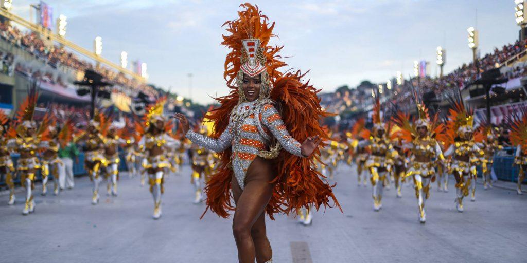 Desfile en carnaval de Rio de Janeiro