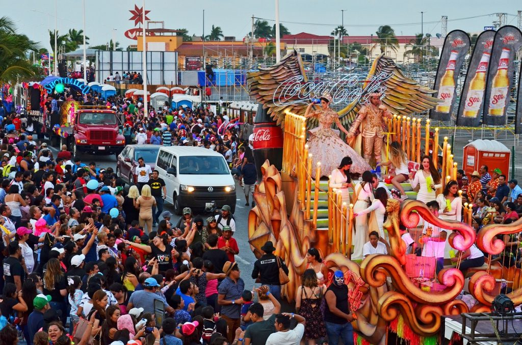 Desfile en carnaval de Campeche